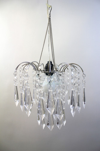 Crystal Acrylic Drop Large Beaded Chandelier Hand Hooked - Chandelier drop crystals