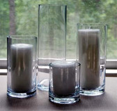 "Cylinder Vase 4"" x 10"" Great for Tall Candles or Flowers"
