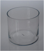 "Cylinder Vase 8"" x 7"" Great as Small Candle Holders"