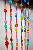 Candy Rainbow Pearls Beaded Curtains - 1 Foot by 6 Feet