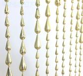 Doorway Beaded Curtains Iridescent Raindrops Gold