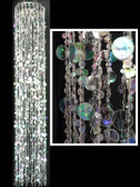 Double Layer Beaded Chandelier - Crystal / Silver