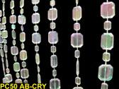 Emerald Cut Crystal Beaded Curtain
