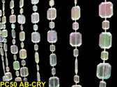 Emerald Cut Crystal Beaded Curtain