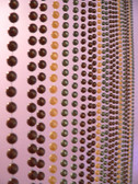 Faux Metal Balls Multi Color Beaded Curtain