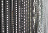 Silver Faux Metal Ball Beaded Curtain - 6 Feet Long