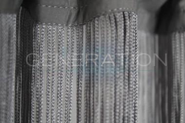Gray Silver String Curtains - 3 Feet by 12 Feet