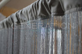 String Curtain Gray Metallic Silver Thread 3 FT W  X 12 FT LG