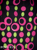 Hip PVC Circles Pink/Lime