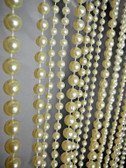 Ivory Ball Chain curtain in 6mm - 8mm - 10mm Strand Combination