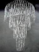 Large 4 Tiered beaded Chandelier with Diamond Cut beads