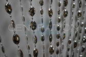 Large Pendents in Iridescent Metallic Silver Beads