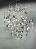 Waterfall Silver Beads Chandelier