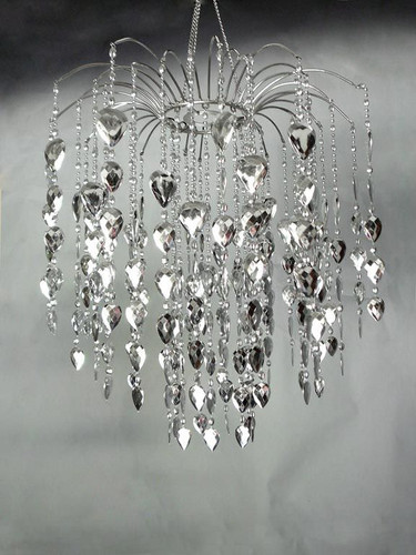 Waterfall Silver Beads Chandelier