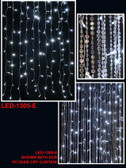 Cool White LED Lighted Curtain - 3 Feet by 12 Feet