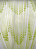 Lime Non Iridescent Raindrops Beaded Curtain