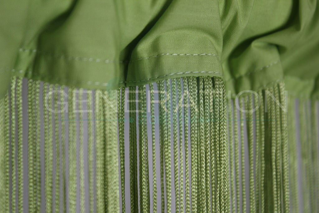 Lime Green String Or Fringe Curtain 3 Feet Wide X 9 Feet