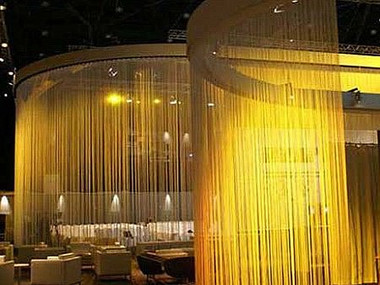 Gold String Curtains - Up to 20 Feet Long