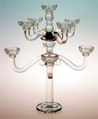 "Nine Branch Crystal Candelabra 20"" Great for an Elegant Centerpiece"