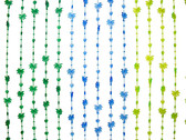Palm Tree Blue/Green Beaded Curtain