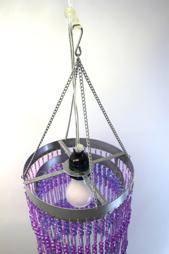 Acrylic beaded Chandelier purple color