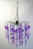 Teardrop Waterfall Beaded Chandelier Purple