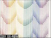 Rainbow Raindrops Beaded Curtains - 3 Feet by 6 Feet