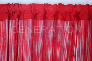 Red String Curtains - 3 Feet by 9 Feet