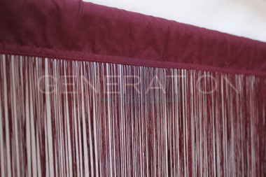 Burgundy String Curtains - 3 Feet by 9 Feet
