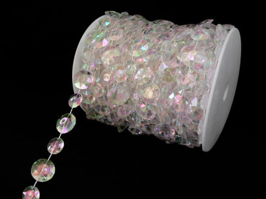 Iridescent Crystal Strands Beads By the Roll