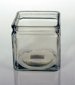 "Square Clear Candle Holder 4"" x 4"""