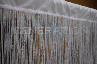 Glittering White String Curtains - 3 Feet by 12 Feet