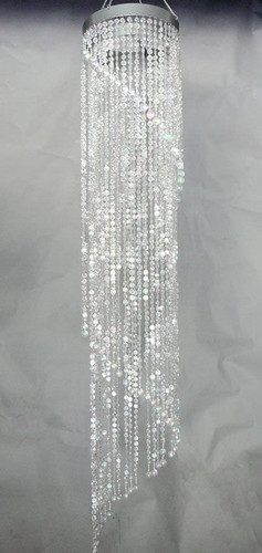 Super sized spiral chandelier with diamond cut beads image 1 aloadofball Images