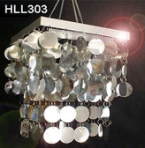 Two Tiered Faux Capiz PVC Chandelier