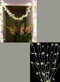 Warm White LED Lighted Curtain 12 Feet Long