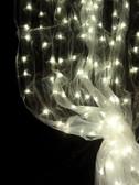 Warm White Organza LED Lighted Curtain 12 Feet Long