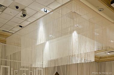 White Fringe or String Curtain 12 Feet Length