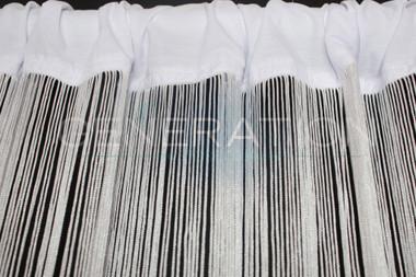 White String Curtains - 3 Feet by 12 Feet
