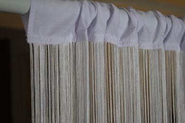 White String Curtains - 3 Feet by 20 Feet