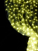 Yellow Organza LED Lighted Curtain 12 Feet Long