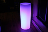 """Led Column Flower Pot 38"""" Tall Cordless Waterproof with Remote Control"""