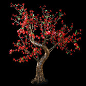 Cherry Blossom Tree 4' 8 High 448 LED Lights Red Color Taylor Style