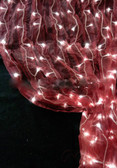 Burgundy  Organza LED Lighted Curtain - 8 FT and 12 FT Long