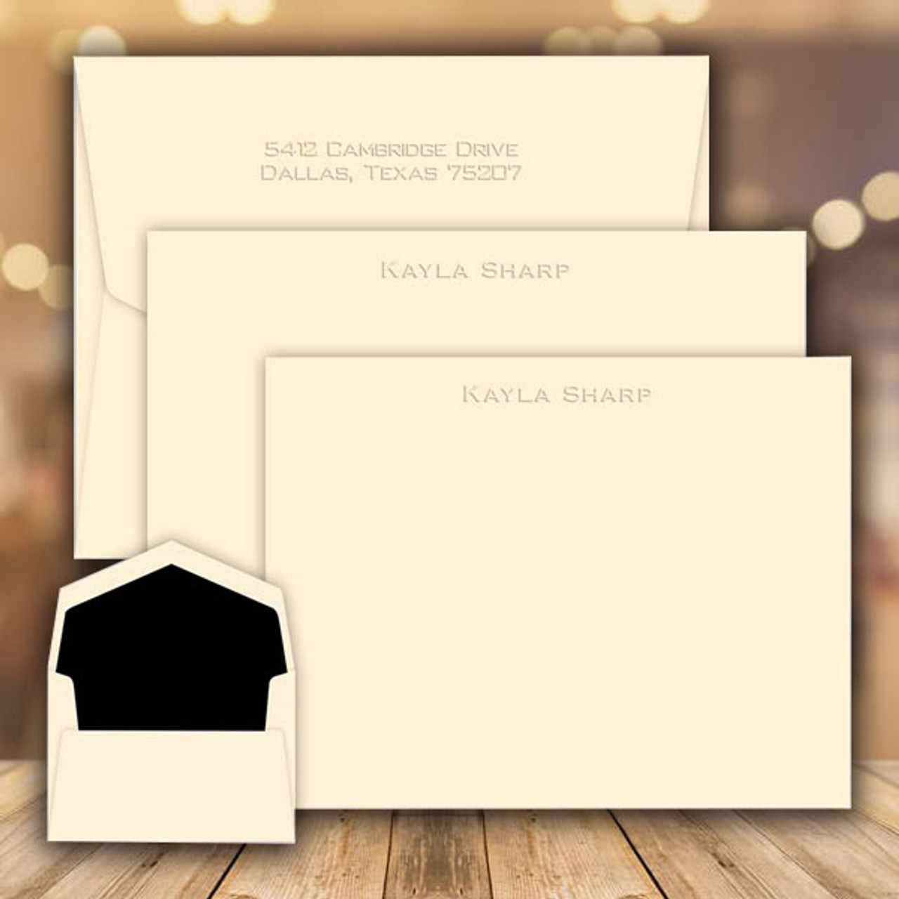 Personalized Stationery Stamps Gifts – Embossed Graphics Wedding Invitations