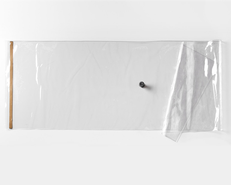 Thin Air Press vacuum bag with one-way valve and seal attached.