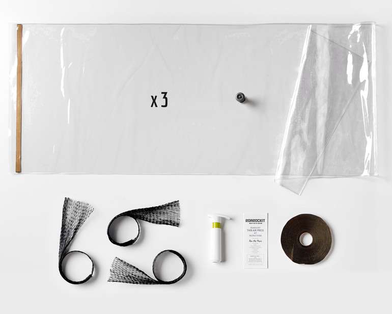"""THREE 20x70"""" vacuum bags with seal and one-way valve, Super Pump, breather, a full roll of sealing tape and illustrated instructions"""