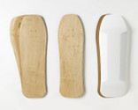 Includes two sets of Old School-shaped maple veneer 7-layer sets, plus a matching shaped foam mold.