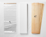 """A 20x70"""" Thin Air Press Bag (no pump), plus two 9-layer sets of maple longboard 12 x 47"""" veneer, and a slab of foam for shaping your custom mold."""