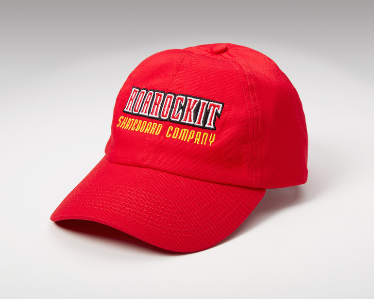 Old School baseball cap, with embroidered Roarockit logo front and Thin Air Press back