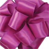 Fuchsia Wired Satin Ribbon